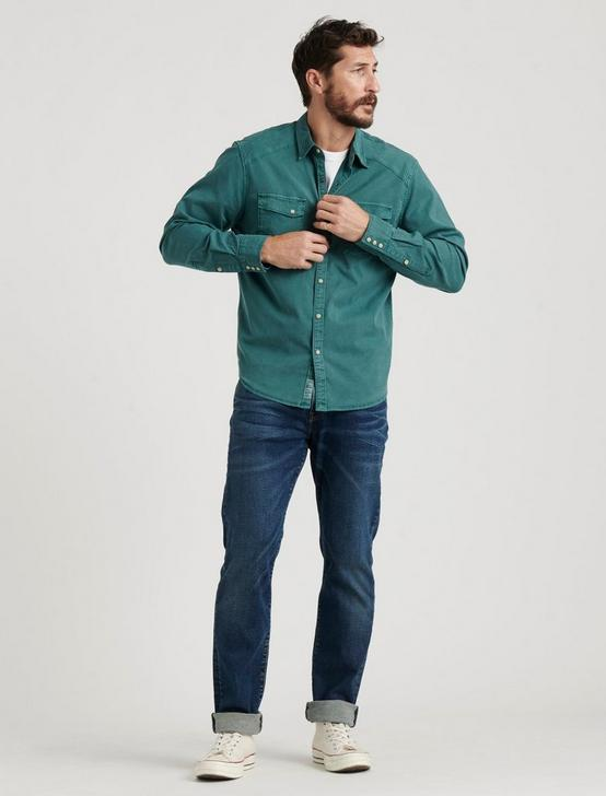 TENCEL MARTIN WESTERN SHIRT, SEA PINE, productTileDesktop