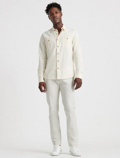THE CHAMBRAY WORK SHIRT in SLIM FIT, NATURAL