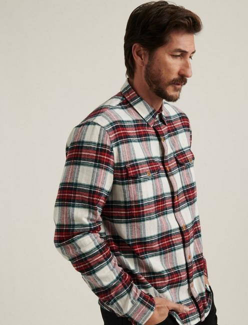 REDWOOD WORKWEAR SHIRT, RED PLAID
