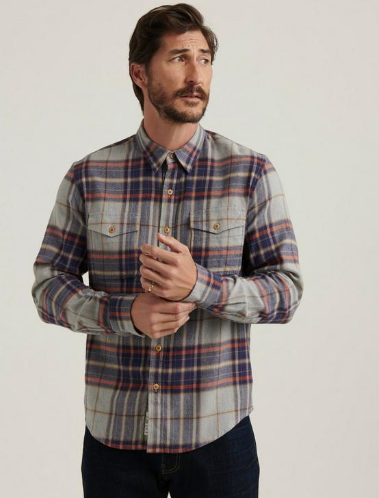 REDWOOD WORKWEAR SHIRT, GREY/BLUE, productTileDesktop