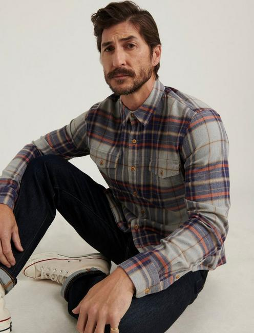 REDWOOD WORKWEAR SHIRT, GREY/BLUE