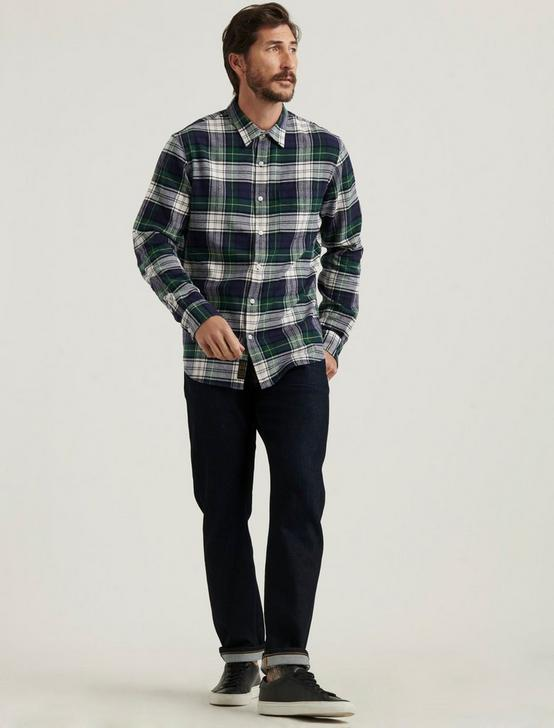 BALLONA LONG SLEEVE SHIRT, GREEN PLAID, productTileDesktop