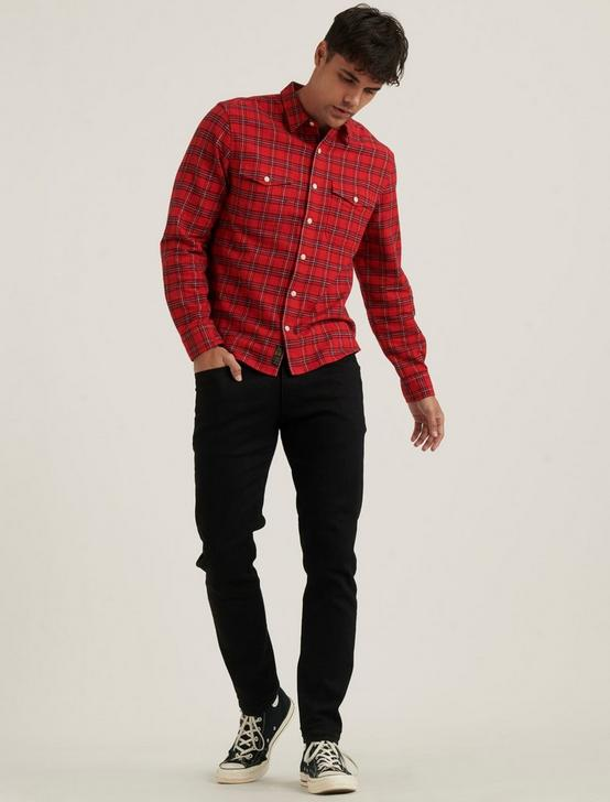 REDWOOD WORKWEAR SHIRT, RED PLAID, productTileDesktop
