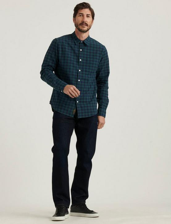 LONG SLEEVE 1 POCKET BALLONA SHIRT, GREEN PLAID, productTileDesktop