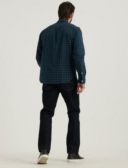 LONG SLEEVE 1 POCKET BALLONA SHIRT, GREEN PLAID