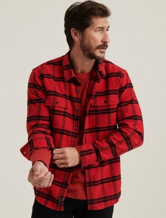 HUMBOLT WORKWEAR SHIRT, RED/BLACK, productTileDesktop