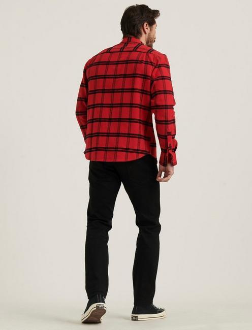 HUMBOLT WORKWEAR SHIRT, RED/BLACK