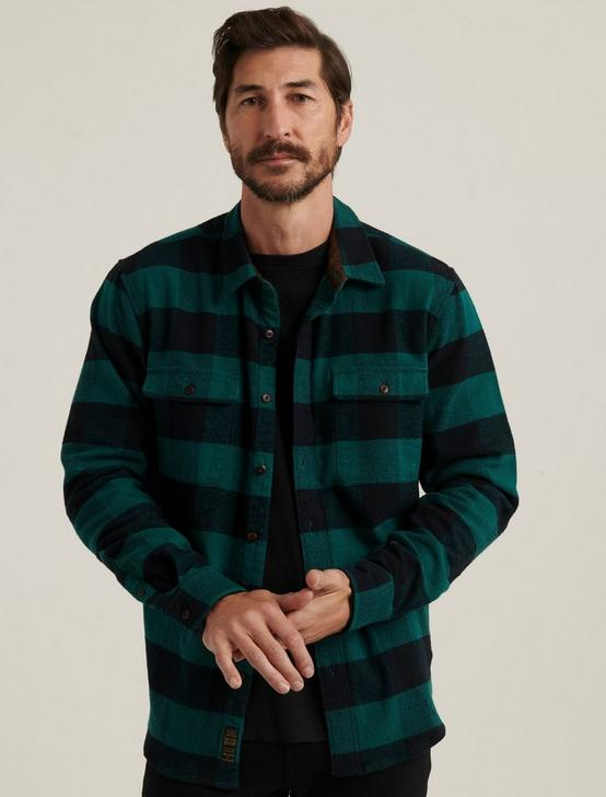 HUMBOLT WORKWEAR SHIRT, GREEN/BLACK, productTileDesktop