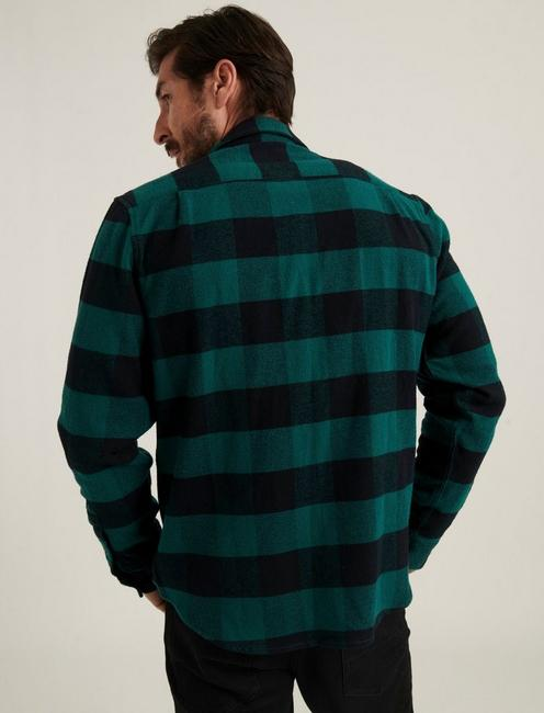 HUMBOLT WORKWEAR SHIRT, GREEN/BLACK