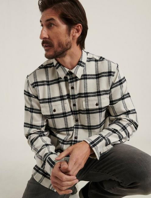 HUMBOLT WORKWEAR SHIRT, NATURAL/BLACK