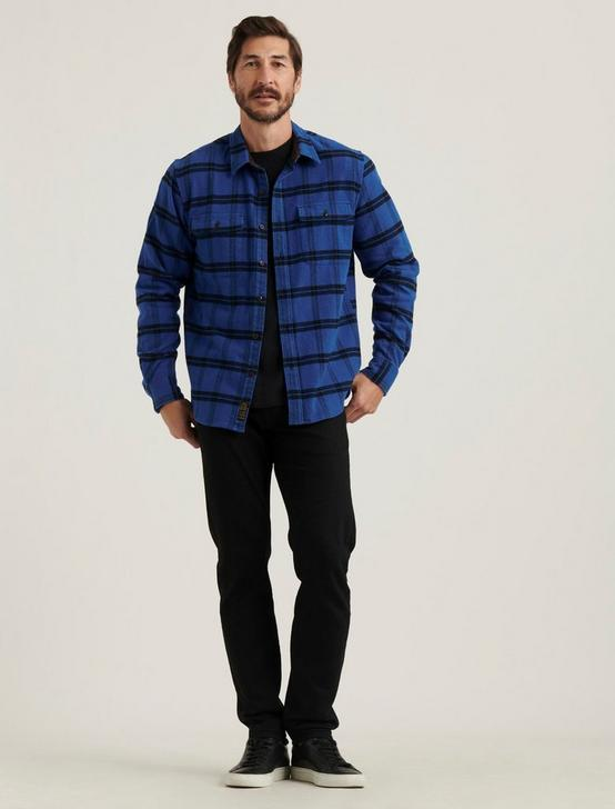 HUMBOLT WORKWEAR SHIRT, BLUE/BLACK, productTileDesktop