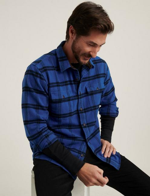 HUMBOLT WORKWEAR SHIRT, BLUE/BLACK