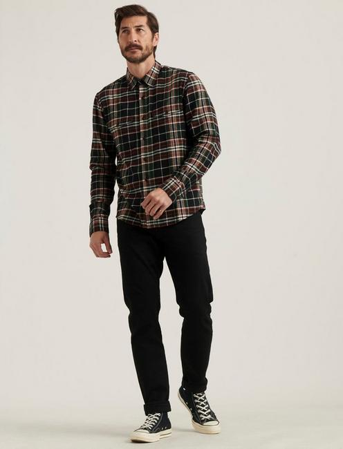 REDWOOD WORKWEAR SHIRT, BLACK PLAID