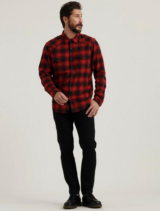 SANTA FE WESTERN SHIRT, RED/BLACK, productTileDesktop