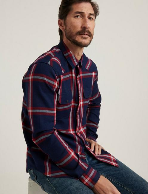 SANTA FE WESTERN SHIRT, BLUE PLAID