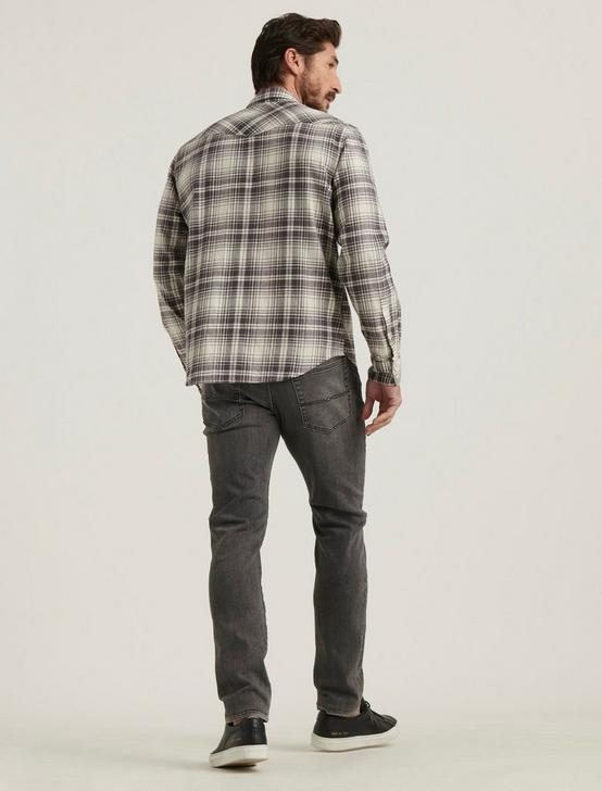 SANTA FE WESTERN SHIRT, GREY PLAID, productTileDesktop