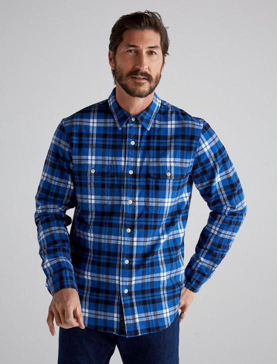 PALISADES WORKWEAR SHIRT, BLUE PLAID, productTileDesktop