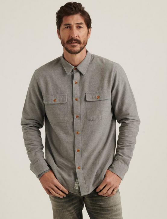 CHAMOIS WORKWEAR SHIRT, HEATHER GREY, productTileDesktop