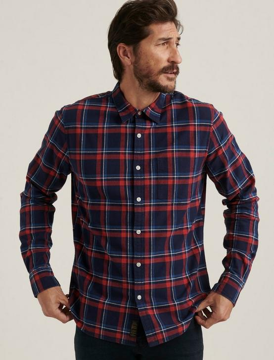 LONG SLEEVE 1 POCKET BALLONA SHIRT, RED/BLUE, productTileDesktop