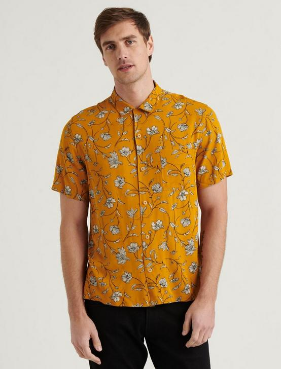 CLUB COLLAR SHIRT, YELLOW PRINT, productTileDesktop