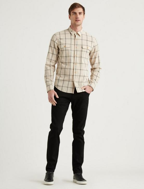 LINEN PALISADES WORKWEAR SHIRT, CREAM/BLACK, productTileDesktop
