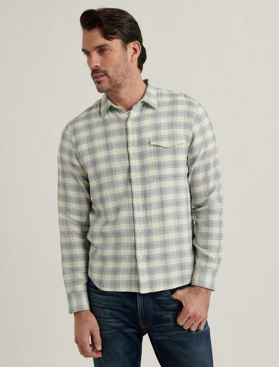 MONROE 1 POCKET SHIRT, BLUE PLAID, productTileDesktop