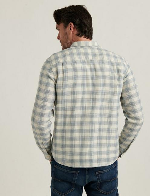MONROE 1 POCKET SHIRT, BLUE PLAID