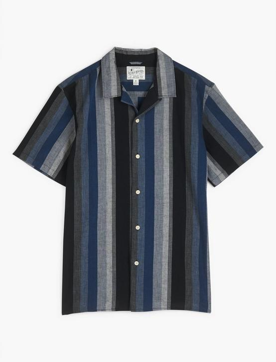 SHORT SLEEVE CLUB COLLAR, BLUE STRIPE, productTileDesktop