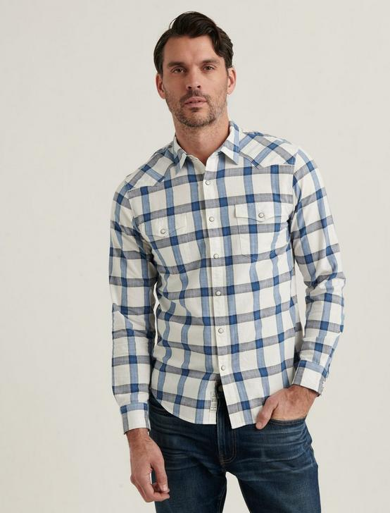 MESA WESTERN SHIRT, BLUE PLAID, productTileDesktop