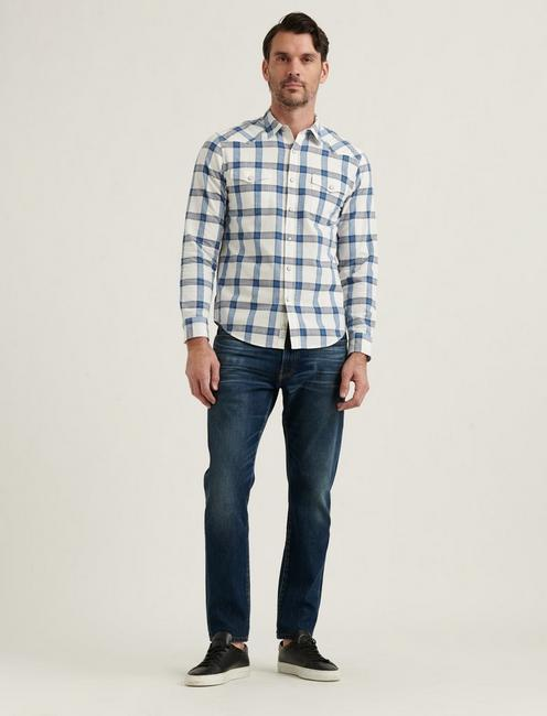 MESA WESTERN SHIRT, BLUE PLAID