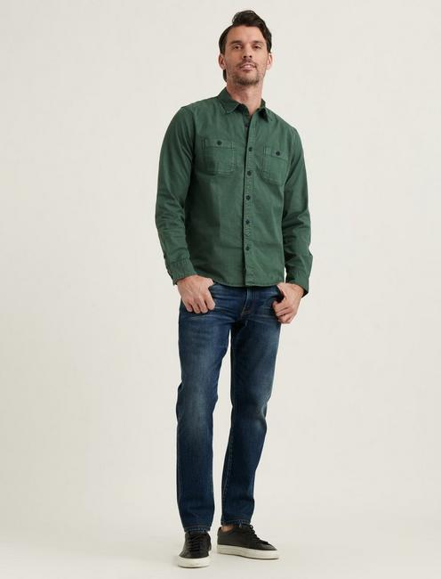 STRETCH TENCEL MASON WORKWEAR SHIRT, SPRUCE