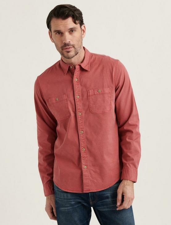STRETCH TENCEL MASON WORKWEAR SHIRT, MINERAL RED, productTileDesktop