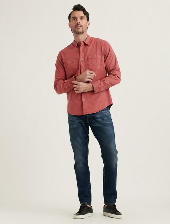 TENCEL MASON WORKWEAR SHIRT, MINERAL RED, productTileDesktop