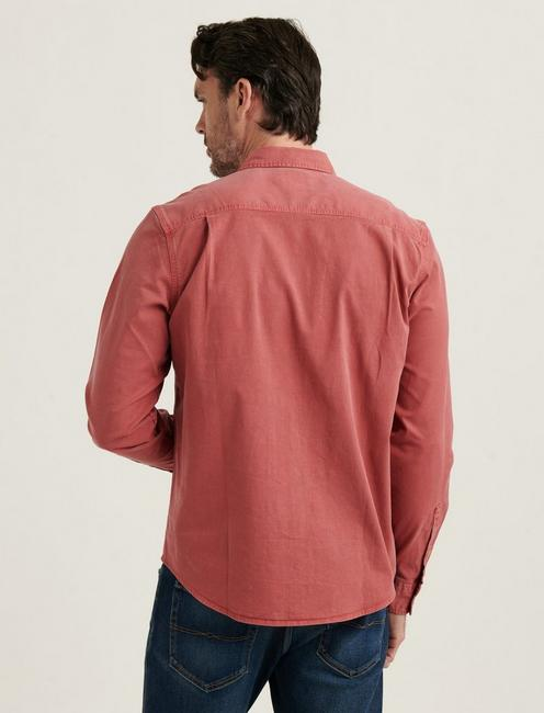 TENCEL MASON WORKWEAR SHIRT, MINERAL RED