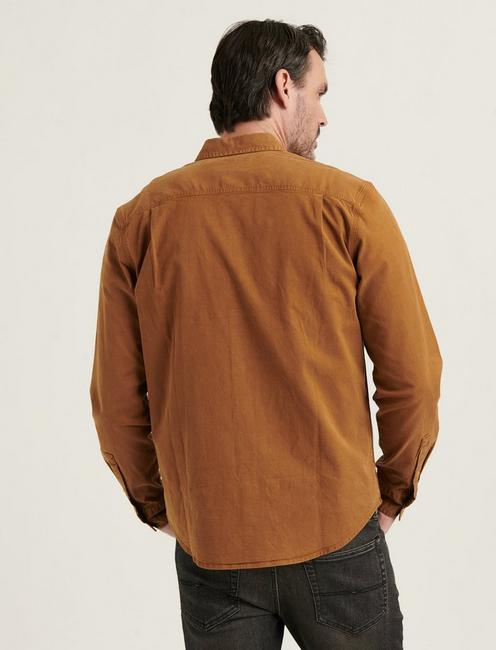 TENCEL MASON WORKWEAR SHIRT, COPPER BROWN