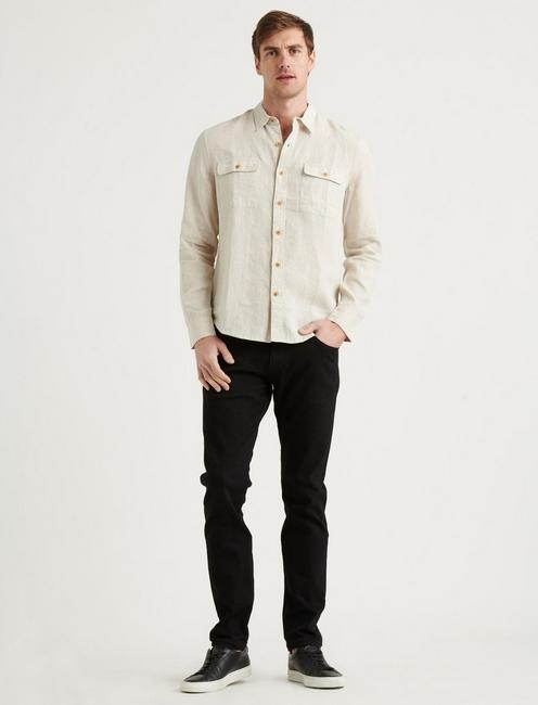 LINEN HUMBOLDT WORKWEAR SHIRT, HEATHER OAT