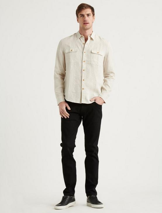 LINEN HUMBOLDT WORKWEAR SHIRT, HEATHER OAT, productTileDesktop