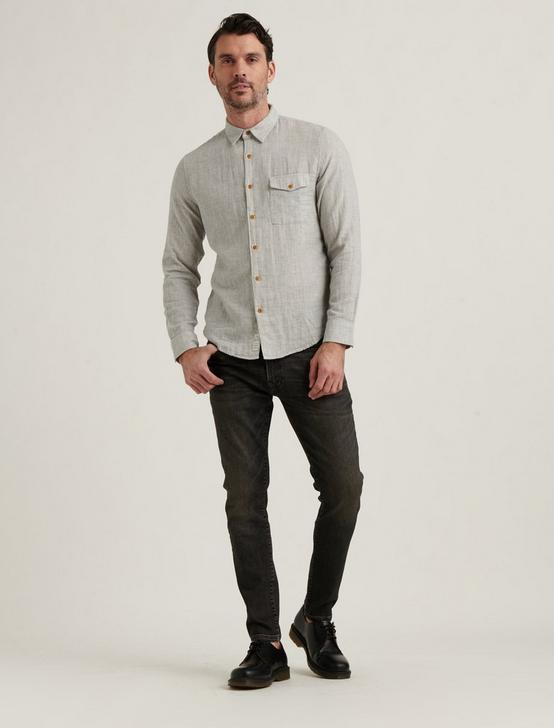 MONROE 1 POCKET SHIRT, HEATHER GREY, productTileDesktop
