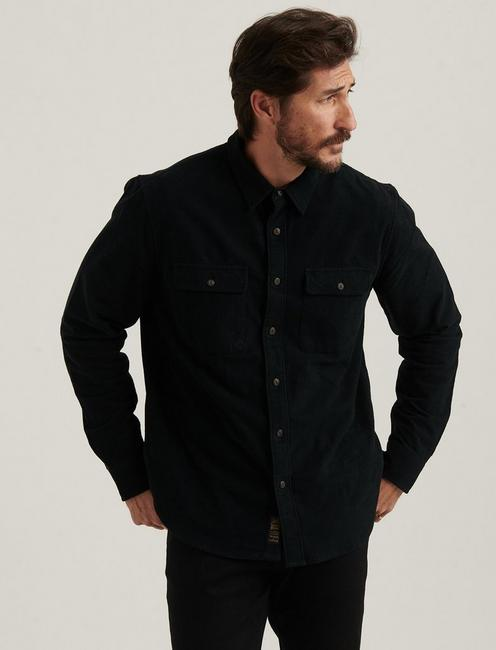 CHAMOIS WORKWEAR SHIRT, JET BLACK