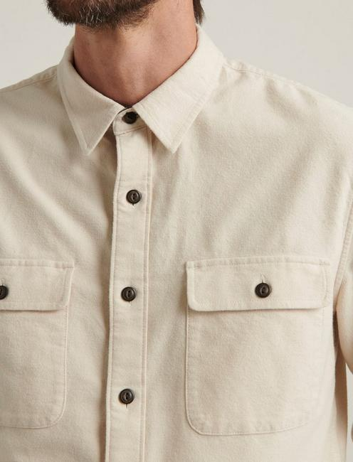 CHAMOIS WORKWEAR SHIRT, NATURAL