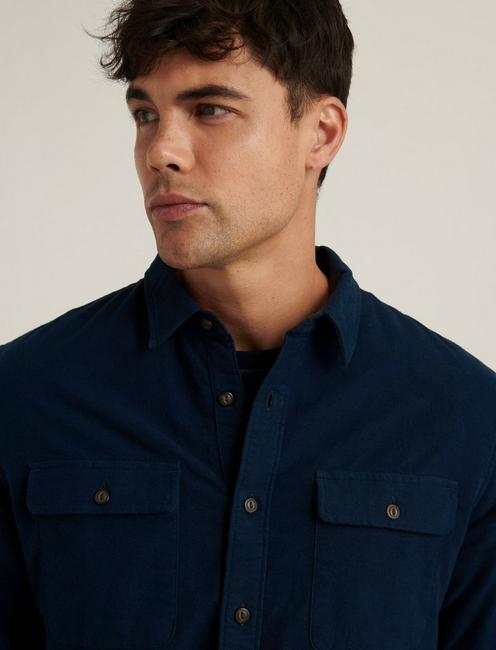 CHAMOIS WORKWEAR SHIRT, #437 NAVY