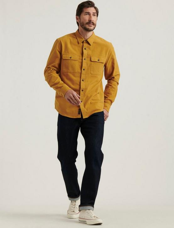 CHAMOIS WORKWEAR SHIRT, GOLD, productTileDesktop