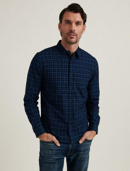 SAN GABRIEL 1 POCKET SHIRT, BLUE, productTileDesktop