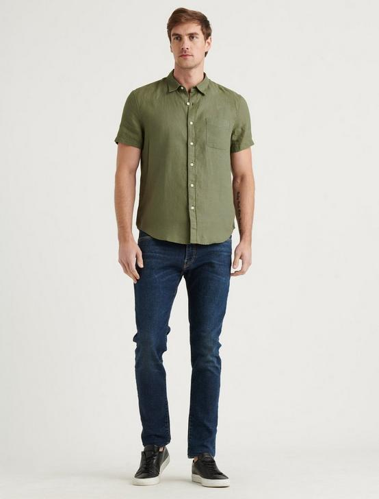 LINEN SHORT SLEEVE SAN GABRIEL SHIRT, 915 GREEN, productTileDesktop