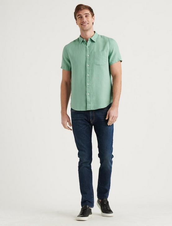 LINEN SHORT SLEEVE SAN GABRIEL SHIRT, MINT, productTileDesktop