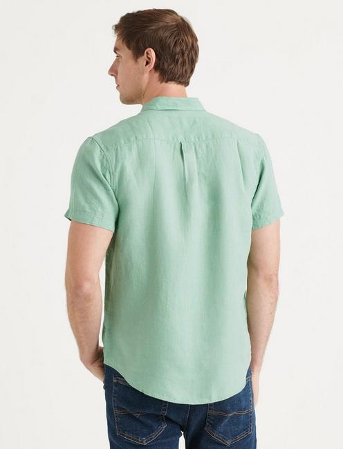 LINEN SHORT SLEEVE SAN GABRIEL SHIRT, MINT