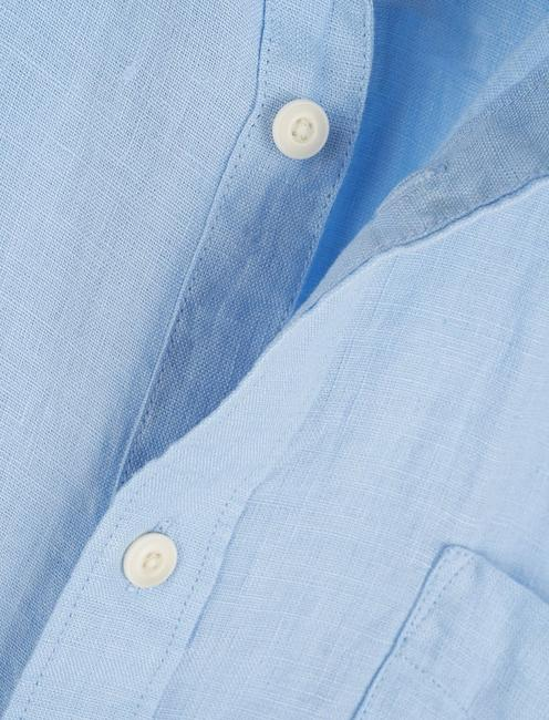 LINEN SHORT SLEEVE SAN GABRIEL SHIRT, BLUE BELL