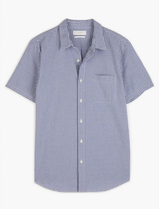 SHORT SLEEVE SAN GABRIEL 1 POCKET, BLUE/WHITE, productTileDesktop