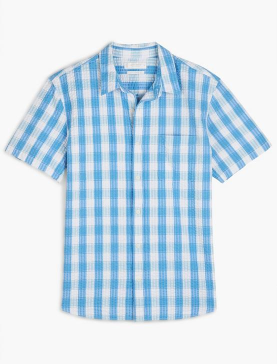 SHORT SLEEVE SAN GABRIEL 1 POCKET, BLUE PLAID, productTileDesktop