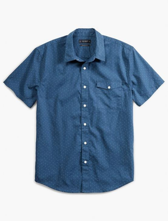 SHORT SLEEVE MONROE 1 POCKET, BLUE PRINT, productTileDesktop